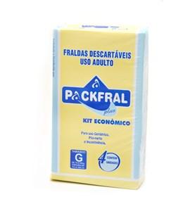 Fralda uso adulto, noturna, embalagens individualizadas com 4 unidades